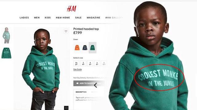 H&M menjual baju untuk anak kecil yang bersifat rasisme