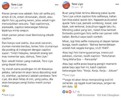 Status Statement Tere Liye