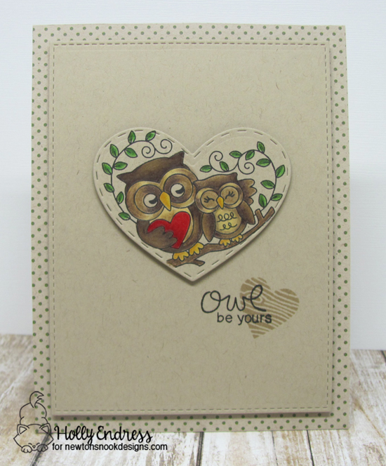 Owl be Yours Card by Holly Endress | Woodland Duos stamp set by Newton's Nook Designs #newtonsnook