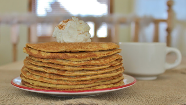 Sweet Cinnamon Cream Cheese Pancakes