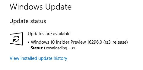 File ISO Windows 10 Insider Preview Build 16296 Sudah Tersedia Untuk Di Unduh