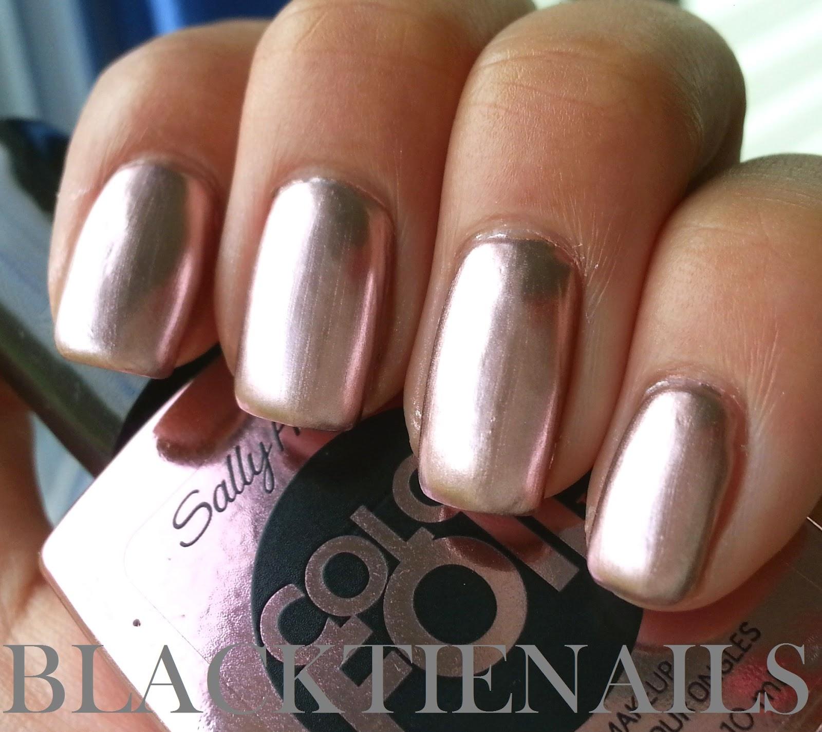 Black Tie Nails: Sally Hansen Color Foil Rose Copper ...