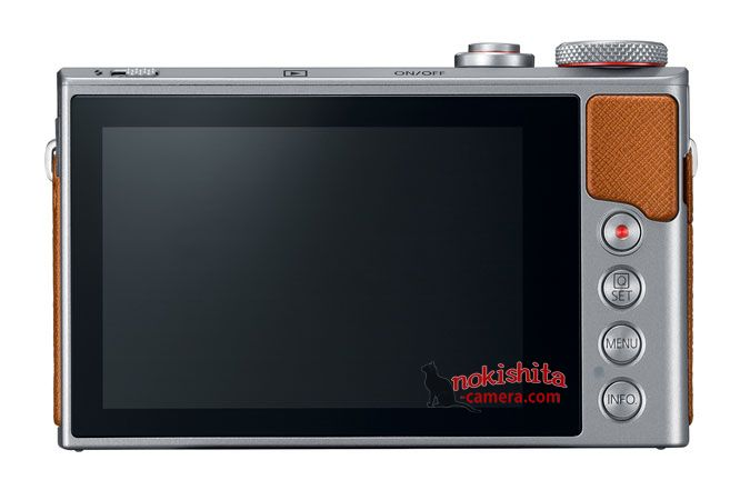 Canon PowerShot G9 X Mark II, вид сзади