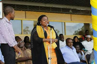 Mishi Mboko thanks his supporters at YMCA hall in Likoni. PHOTO | Courtesy
