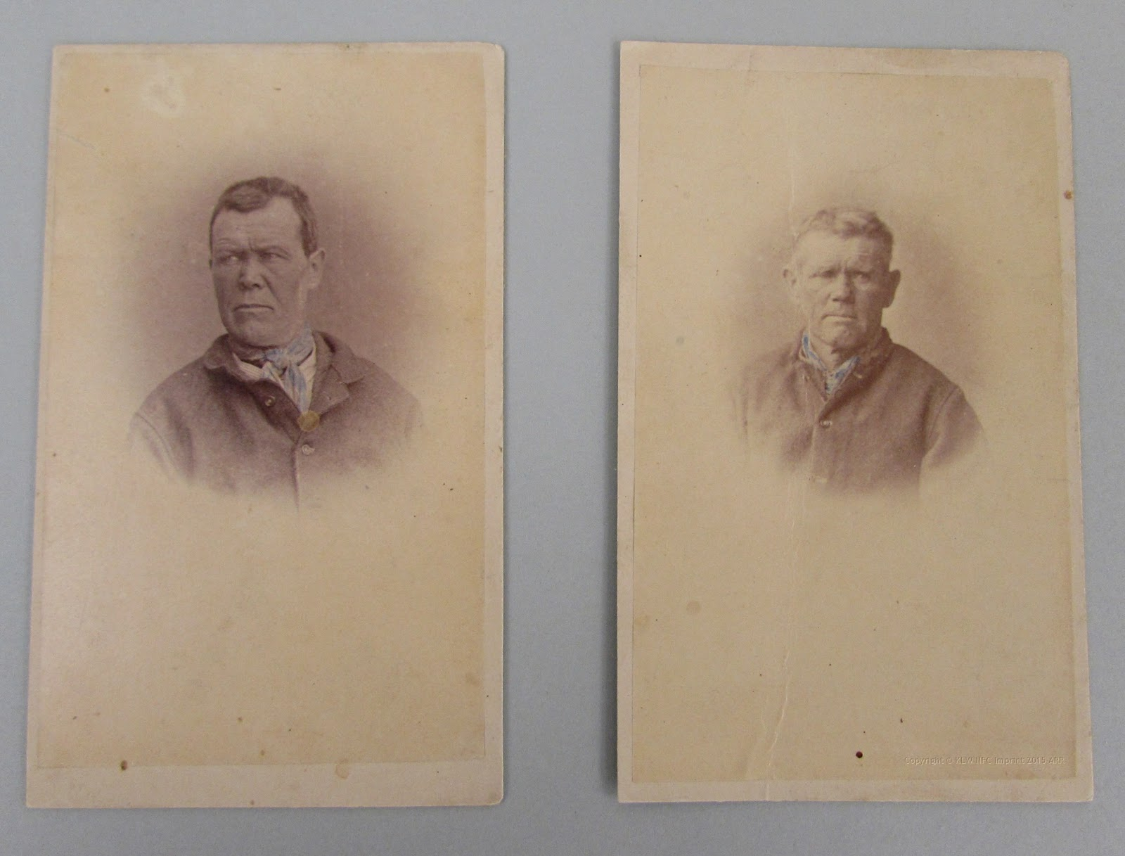 Thomas Nevin's photographs mounted on calico 1870s