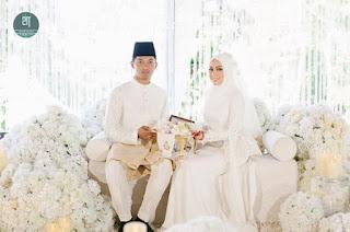 Majlis pernikahan Mia Ahmad dan penjaga gol JDT Mohd Izham Tarmizi