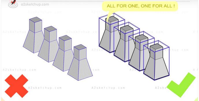 quản lý file sketchup, component sketchup làm nhẹ file