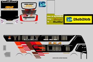 Livery BUSSID v3.4 SDD (Double Decker) Alias Bus Tingkat Terbaru 2020