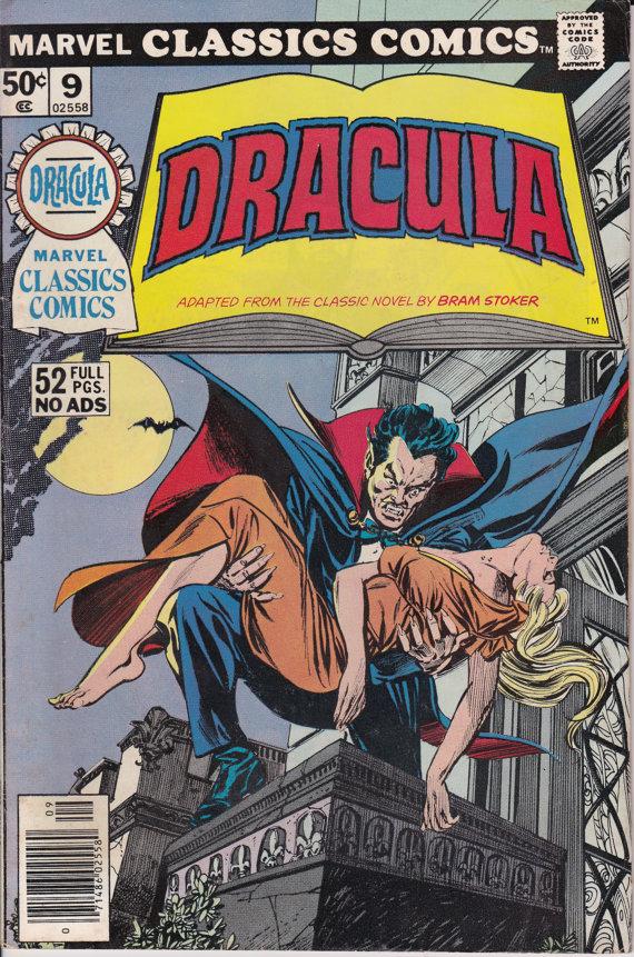 Marvel Classic Comics 9  Dracula  September 1976 Issue