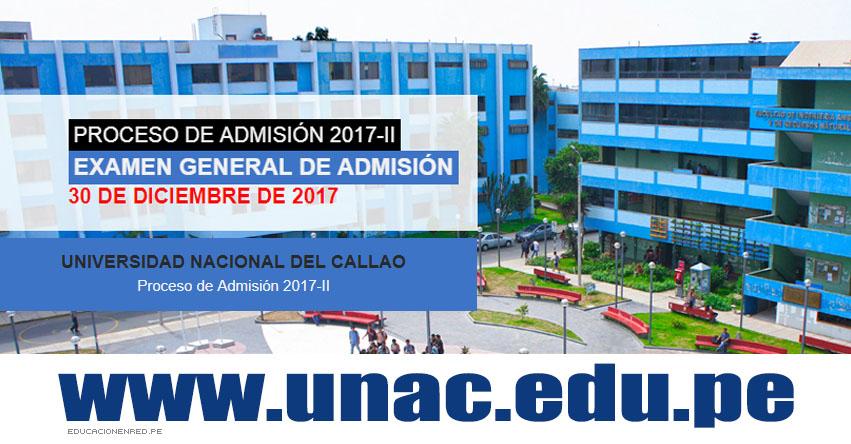 Resultados Examen UNAC 2017-2 (Sábado 30 Diciembre) Ingresantes Admisión General - Universidad Nacional del Callao - www.unac.edu.pe