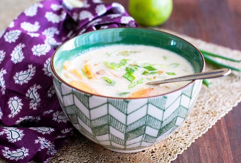 recette Soupe coco curry poulet