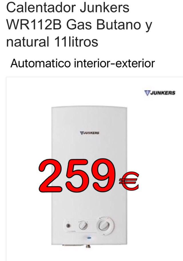 Electrooutlet murcia calentador junkers 11 litros - Calentador junkers 11 litros ...