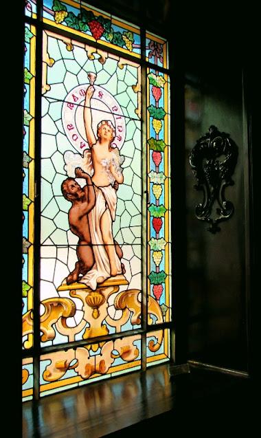 vitral no museu Ramos Pinto