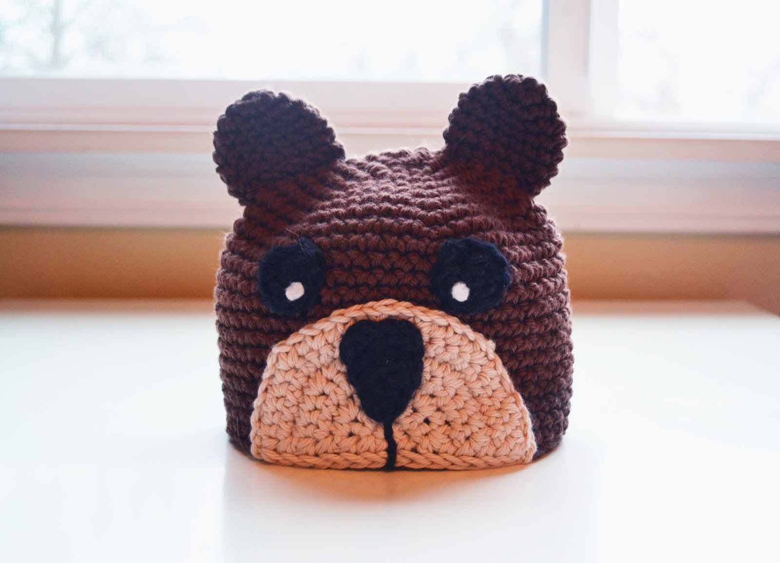 All Things Bright and Beautiful: FREE Crochet Bear Beanie Pattern