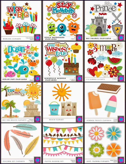 July Clipart Super Giveaway