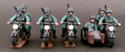 28mm German Kradshutzen Motorcycle Troops Foundry Miniatures