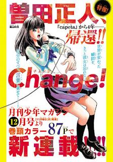 """""""Change!"""" el próximo manga de Masahito Soda"""
