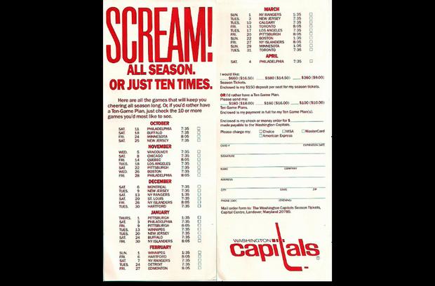 1986-87 Season Sales Brochure