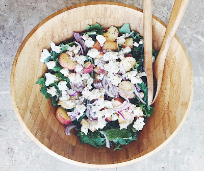 Peach and Goat Cheese Salad