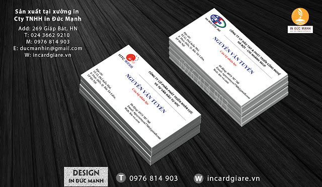 Mẫu card visit doanh nghiệp công ty phát triển nhân lực