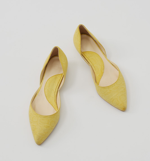 Pointed Reptiled-Designed D'Orsay Flats