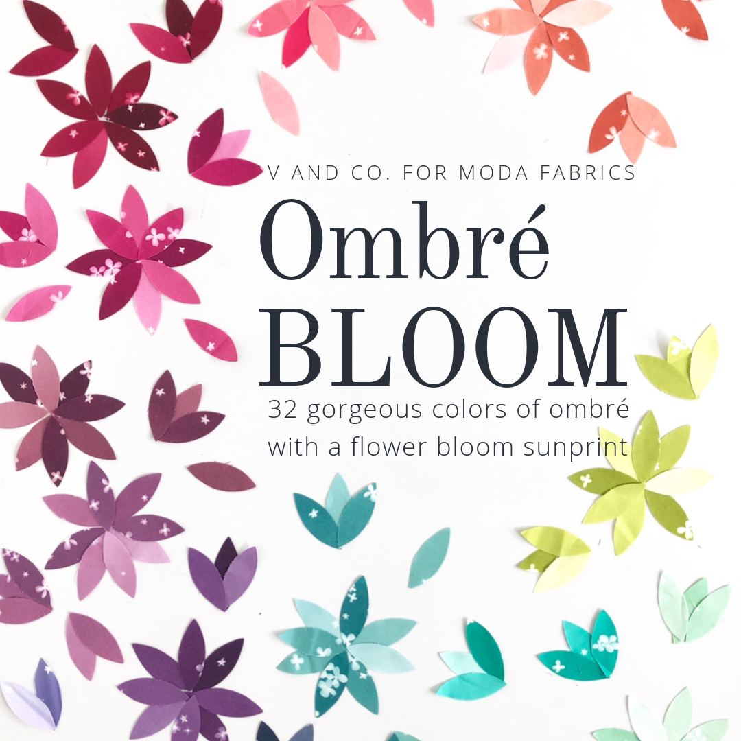 Moda Christmas Fabric 2019.V And Co New Ombre Bloom By V And Co For Moda Fabric