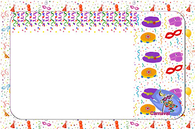 Carnaval Kit Completo Com Molduras Para Convites Rotulos Para