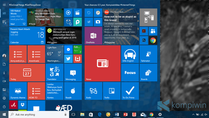 cara hilangkan all apps di start menu windows 10