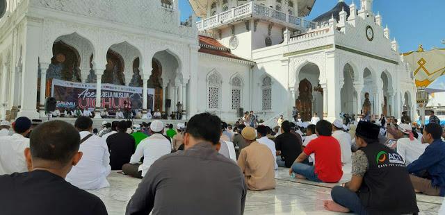 Aksi Bela Muslim Uighur Serentak di Indonesia, dari Aceh Hingga Makassar