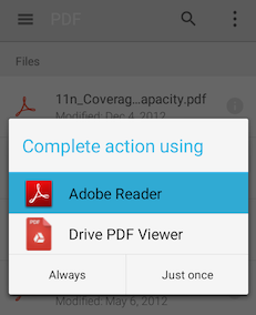 Google All Your: Google's PDF Reader for Android