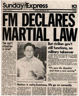On September 23, 1972, at around 7:15 pm, President Marcos went live on national television and announced that he had placed the entire Philippines under a state of Martial Law by virtue of Proclamation No. 1081, s. 1972.