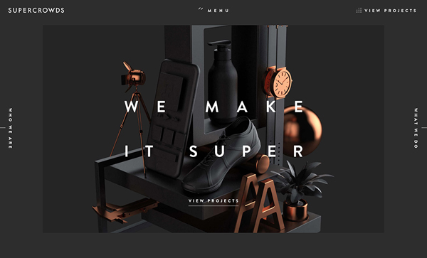 Trend and Inspiration Web Design 2018 - Super Crowds inc.