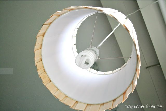 Wood Shim Pendant Light