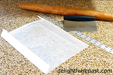 How to Make Croissants - A Tutorial (this photo - what you need to make the butter sheet) / www.delightfulrepast.com