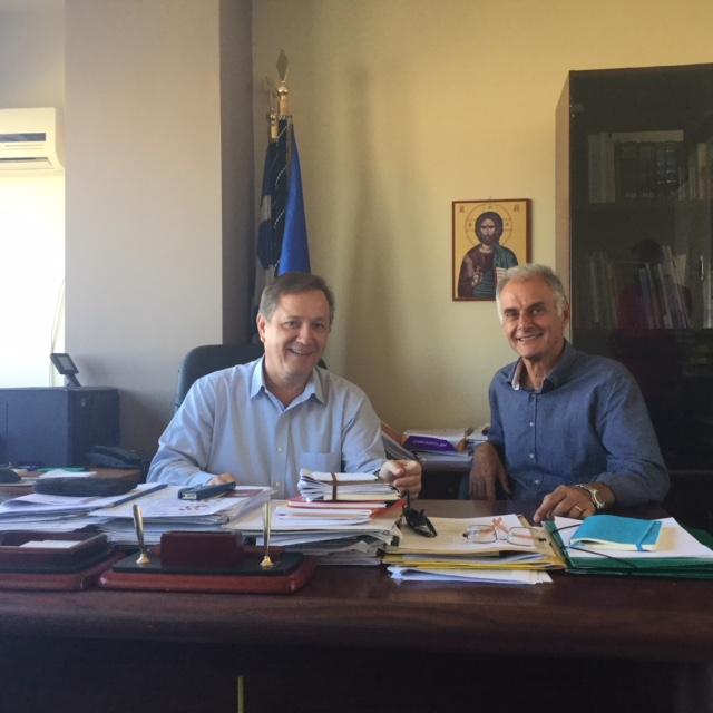 Επίσκεψη Γιάννης Γκιόλα στις Διευθύνσεις Πρωτοβάθμιας και Δευτεροβάθμιας Εκπαίδευσης Αργολίδας