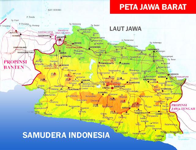 Gambar Peta Jawa Barat versi atlas