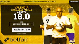 betfair supercuota Valencia gana a Las Palmas 9 enero