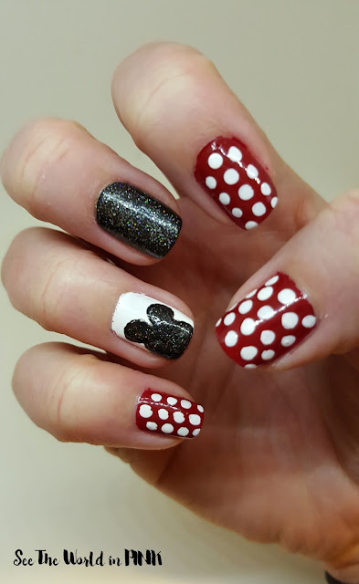 Disney Inspired Mickey Mouse Nails