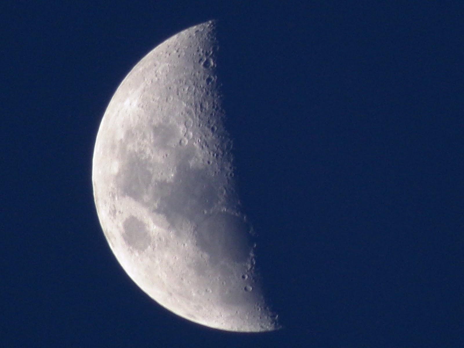 Lunas y Luces : Luna Cuarto Creciente 14 de Febrero 2016 19 hs 39 ...
