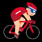 オリンピックのイラスト「自転車・トラック・ロードレース」