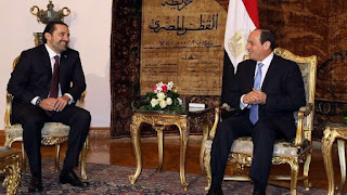 Sisi discusses with Hariri the latest developments in Lebanon