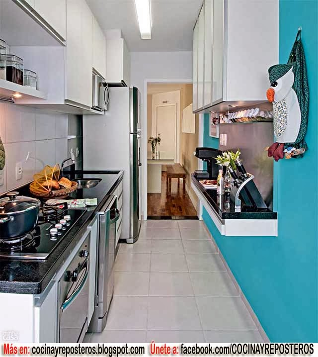 IDEAS PARA COCINAS PEQUEAS Decoracin y Fotos