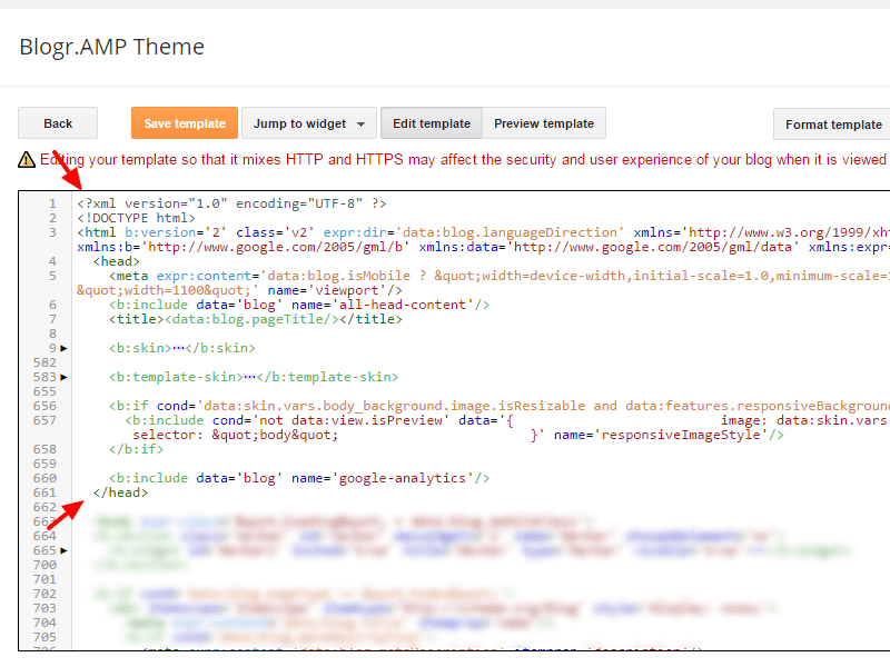 Add AMP components on Blogger theme guide