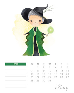 Calendario 2017 de  Harry Potter para Imprimir Gratis  Mayo.