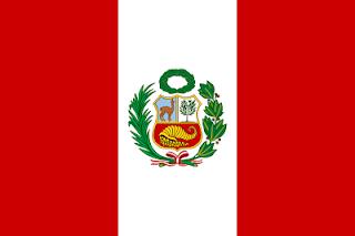 Dibujo de la bandera peruana a color
