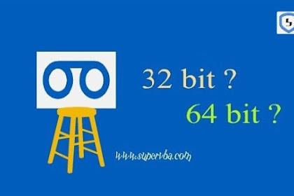 Cara melihat versi windows 32 bit atau 64 bit di windows 7, 8, dan 10