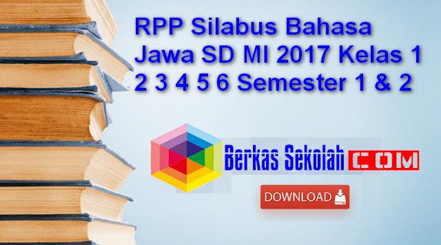 RPP Silabus Bahasa Jawa SD MI 2017