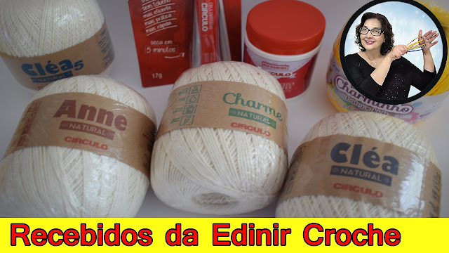 edinir croche ensina Recebidos da Edinir Croche - passo a passo para destros e canhotos circulo  aprender croche Youtube/EdinirCroche