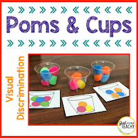 Visual Discrimination, Poms & Cups