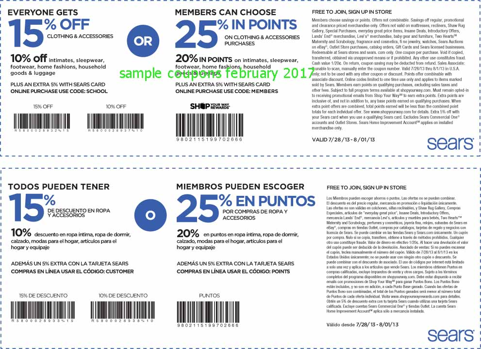 Save up to 60% with these current Sears coupons for December The latest trickerbd.ml coupon codes at CouponFollow. Sears Coupon Codes. trickerbd.ml Show only verified coupons? Current Sears Coupons. Ultimate Hacks for Extra Sears Coupons. Check out the Hot Deals section to shop for products that are offered at deep discounts.